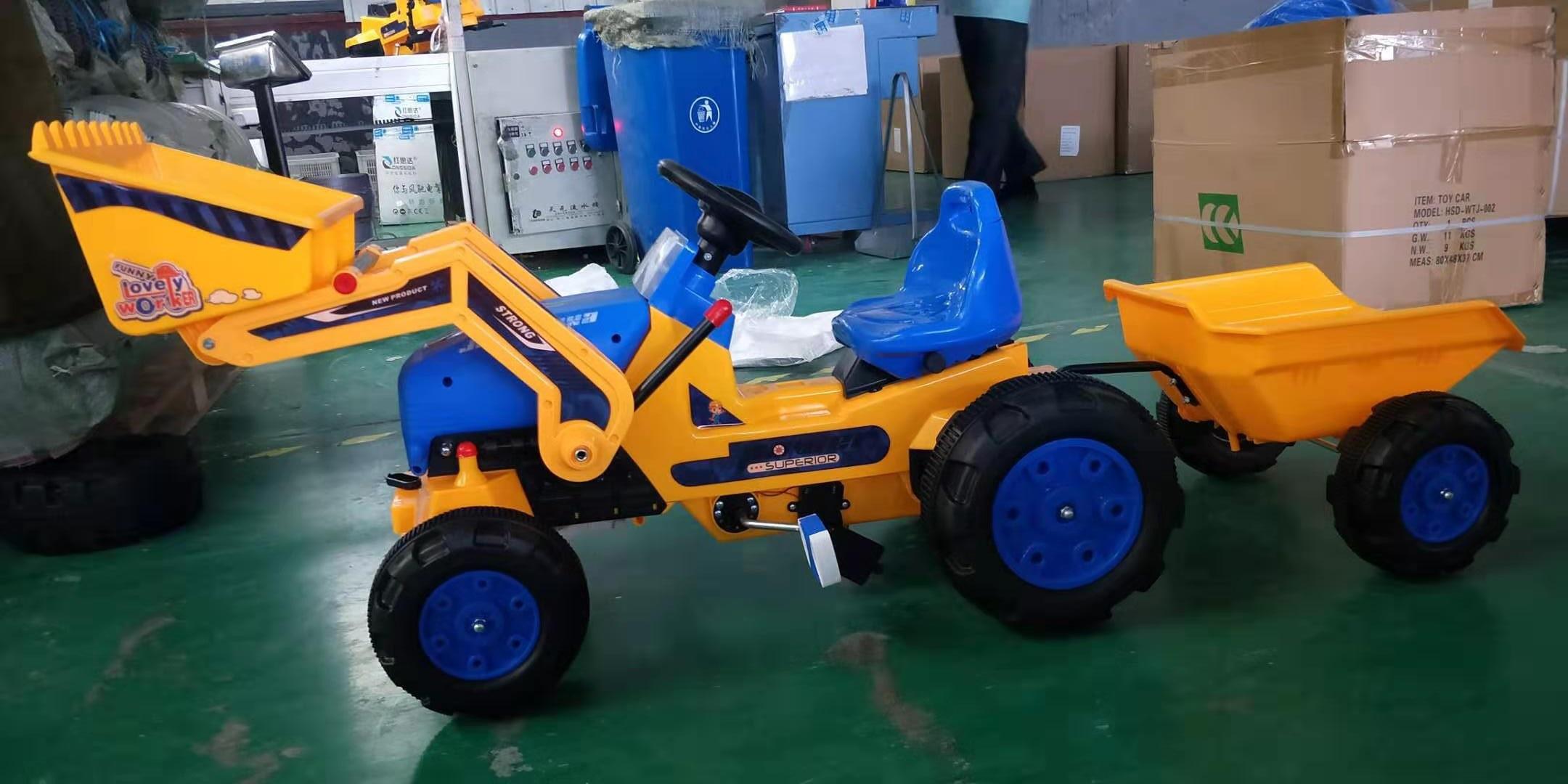 Tractor de pedales strong superior Amarillo