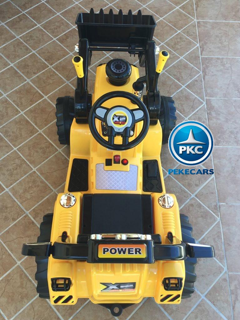 Tractor Eléctrico Infantil Speed Cat Style Amarillo