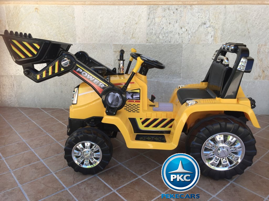 Tractor Eléctrico Infantil Speed Cat Style Amarillo