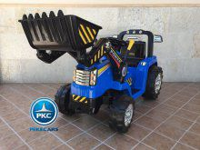 Tractor Eléctrico Infantil New Holland Azul vista principal