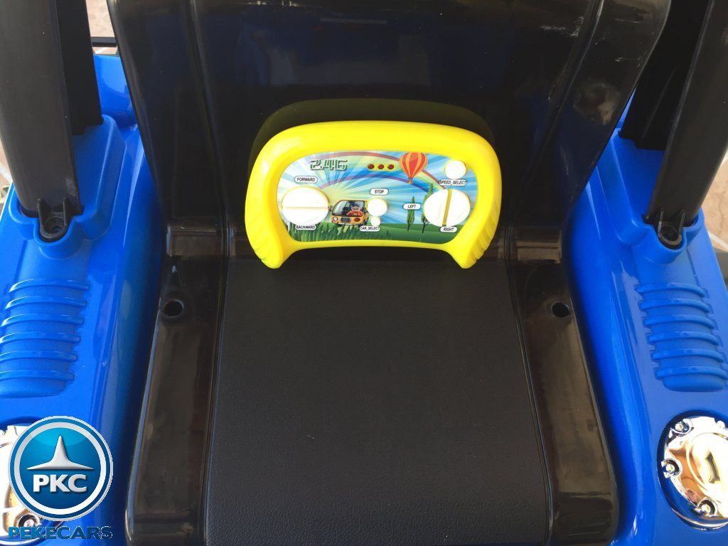 Tractor Eléctrico Infantil New Holland Azul mando 2.4G