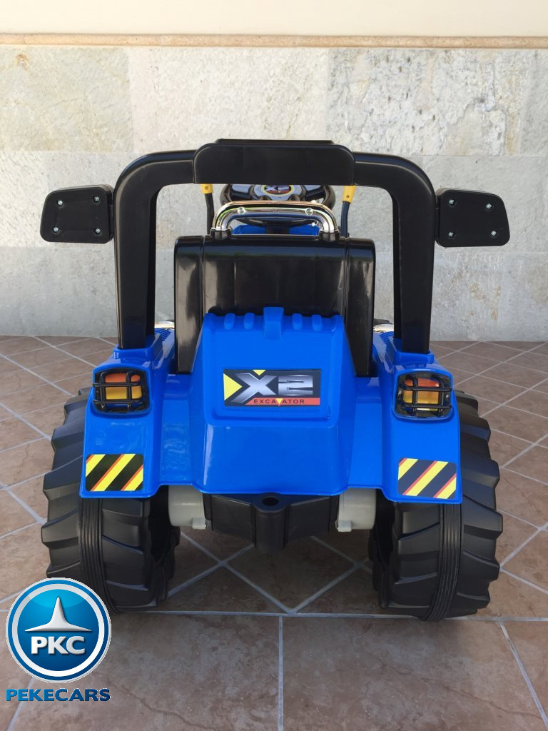 Tractor Eléctrico Infantil New Holland Azul trasera
