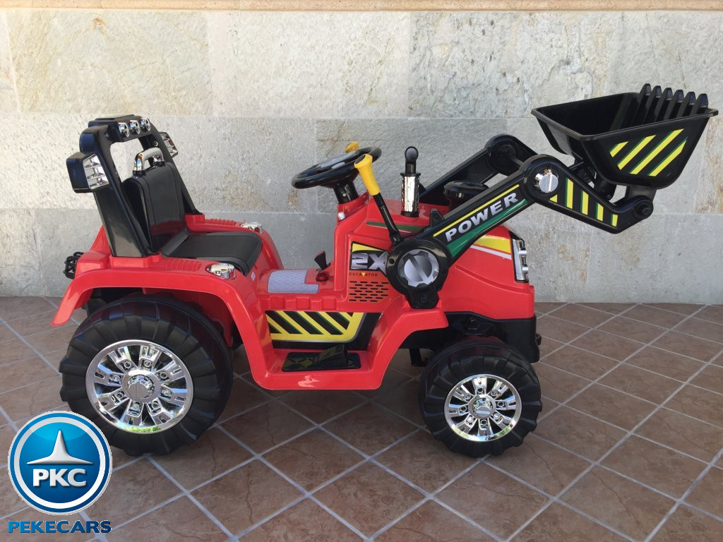 Tractor Eléctrico Infantil Case III Style Rojo lateral