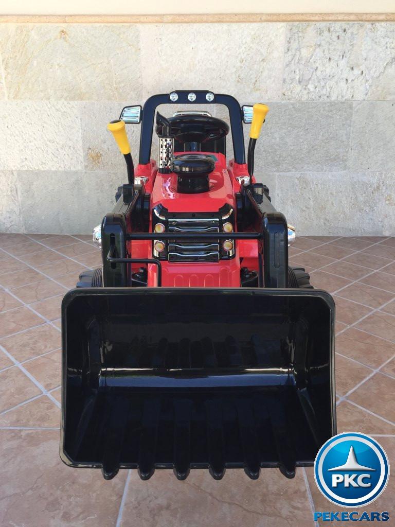 Tractor Eléctrico Infantil Case III Style Rojo delantero