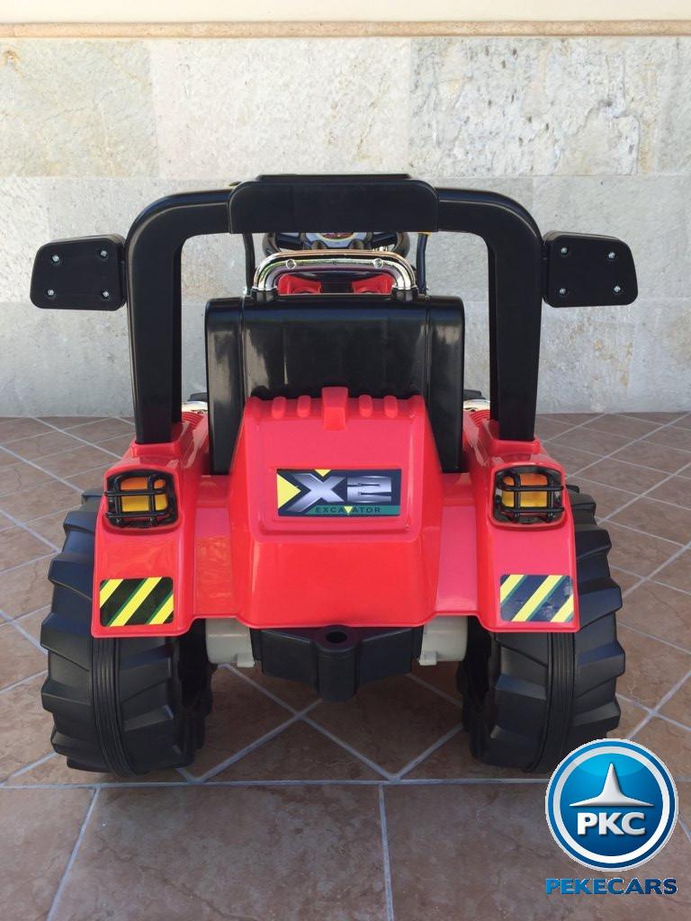 Tractor Eléctrico Infantil Case III Style Rojo trasero