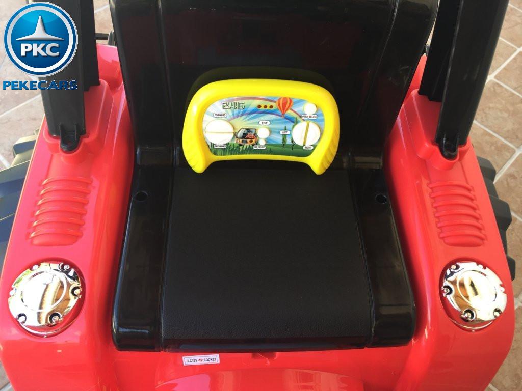 Tractor Eléctrico Infantil Case III Style Rojo mando 2.4G