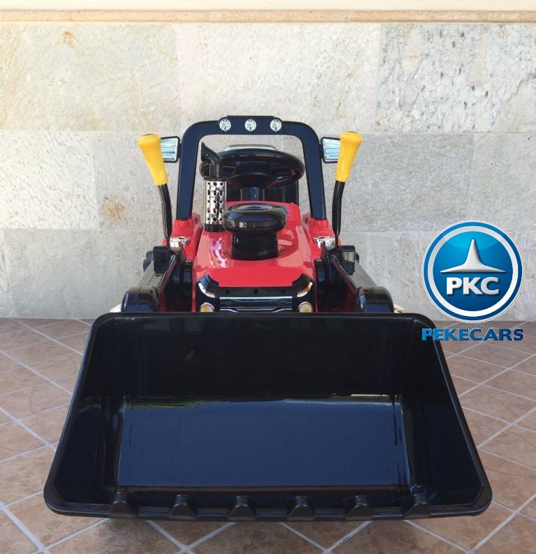Tractor Eléctrico Infantil Case III Style Rojo