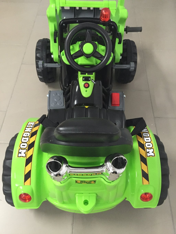 Tractor electrico infantil claas style con pala delantera