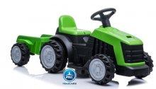 tractor electrico 6v verde con remolque